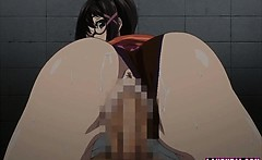 Big Titted Hentai Babe With Glasses Gets Fucked